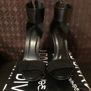 Size 5 black ankle strap heels